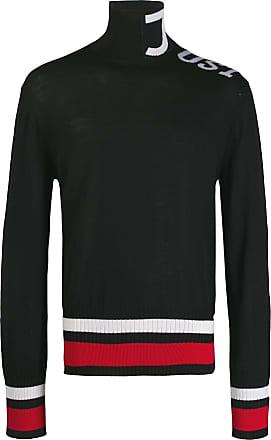 Just Cavalli Suéter de gola alta com logo - Preto