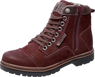 cb15f81390 Mega Boots Bota Coturno em Couro Mega Boots 6017 Vinho
