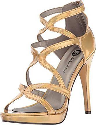 be7405c833cf Michael Antonio Womens Riot-met Dress Sandal Gold 5 M US