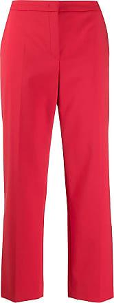 Escada cropped flare trousers - Vermelho