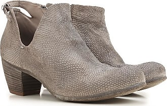 Officine Creative Boots for Women, Booties On Sale in Outlet, Smoke Grey, Leather, 2017, 6