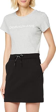 Calvin Klein Jeans Womens Drawcord Skirt, Black (CK Black BAE), 12 (Size:L)