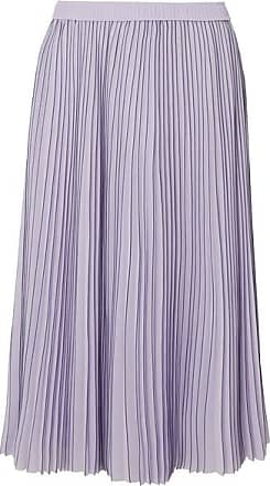 675ce55a6 Jason Wu Pleated Striped Georgette Midi Skirt - Lilac