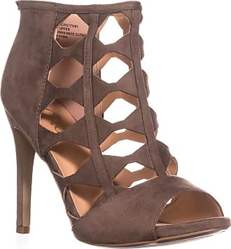 xoxo Womens Colbie Peep Toe Platform Pumps, Taupe, Size 11.0 US / 9 UK US