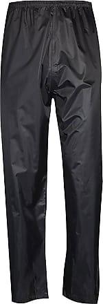 Islander Fashions Adult Waterproof Rainwear Over Trouser Unisex Work Sports Wear Rainwear Pants Black Large