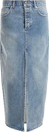 Raey Slit-front Denim Maxi Pencil Skirt - Womens - Denim