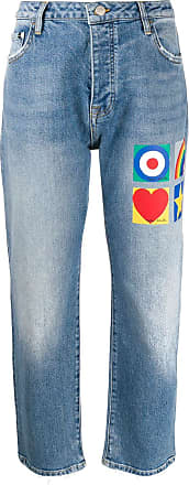 Iceberg x Peter Blake cropped jeans - Blue