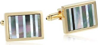 Stacy Adams Stacy Adams Mens Gold Cuff Link W/mop & Abalone Stripes, One Size