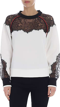 Pinko Didattico sweatshirt with lace inserts
