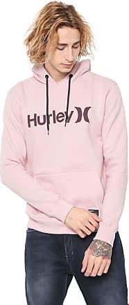 Hurley Moletom Flanelado Fechado Hurley Logo Rosa