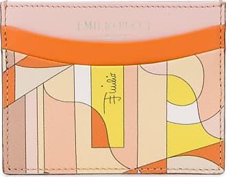 Emilio Pucci Porta-cartões com estampa abstrata - Rosa
