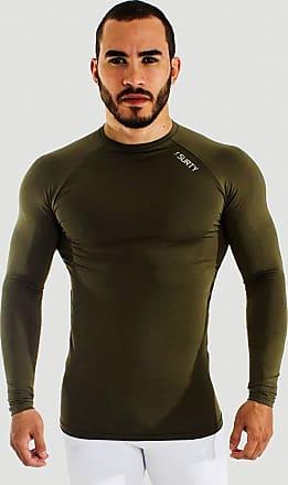 Surty Camiseta de Compressão Manga Longa Masculina Surty Outbreak Cor:Verde;Tamanho:P