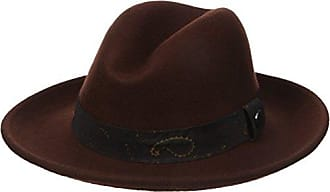 Ben Sherman Mens Core Wide Brim Trilby, Brown, L-XL