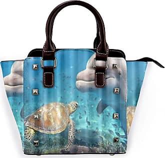 Browncin Marine Dolphin And Turtle Underwater On Reef Background Detachable Fashion Trend Ladies Handbag Shoulder Bag Messenger Bags