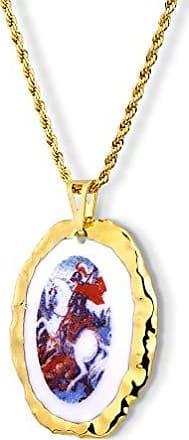 Design Medalhas Pingente Medalha São Jorge Ouro