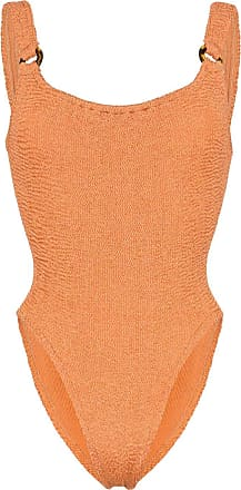 Hunza G Posey Nile crinkle stretch swimsuit - Marrom