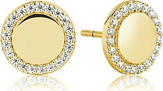 Sif Jakobs Jewellery Earrings Follina - 18k gold plated with white zirconia