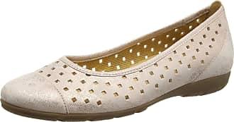 068c9f5844fe2 Gabor Womens Ruffle Ballet Flats, Pink Metallic Leather, 6 UK