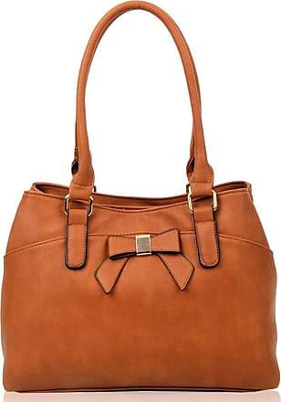 LeahWard Womens Bow Shoulder Bags Large School Handbags R08 (Brown Bow)