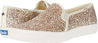 Keds X Kate Spade - Double Decker Glitter Slip-On Gold 6.5 B (M)
