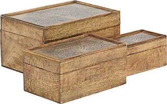 UMA Enterprises Inc. Deco 79 86386 Storage Box, Brown, Gray