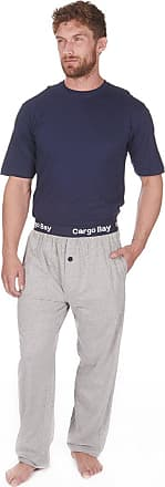Cargo Bay Mens Jersey Top and Bottoms Pyjamas Lounge Set Navy or Grey
