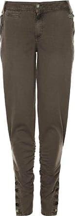 khujo Damen Hose TINKA 5-Pocket Baumwollhose im Reiterhosenstil Knopfleisten