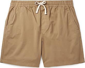 J.crew Dock Garment-dyed Stretch-cotton Drawstring Shorts - Sand