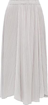 Issey Miyake Pleated Skirt Womens Grey