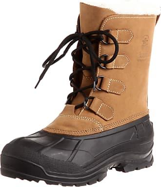 kamik ALBORG, Mens Warm lined Snow boots, Beige (Tan_Tan), 10 UK (44 EU)