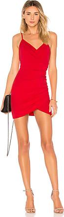 Superdown Dahlia Wrap Mini Dress in Red