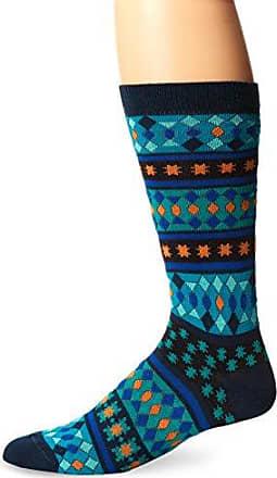 Ozone Mens Moroccan Stars Sock, Navy, Sock Size:10-13/Shoe Size: 6-12