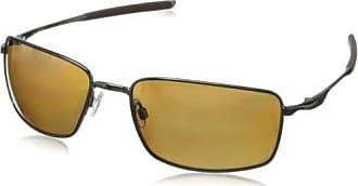 Oakley Square Wire Polarized Iridium Rectangular Sunglasses,Tungsten,60 mm