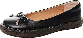 Daytwork Shoes Women Ballet Flats - Pumps Round Toe Block Heel Bow Classic Oxfords Slip on Comfort Loafers Dress Boat Shoes Black
