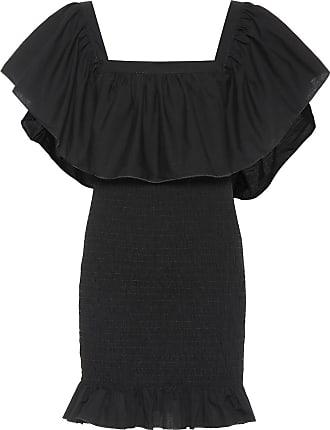 Solid & Striped Smocked ruffle cotton minidress
