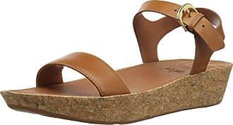 5ee0dd7c FitFlop Bon II Back-Strap Sandals-Leather, Sandalias con Punta Abierta para  Mujer