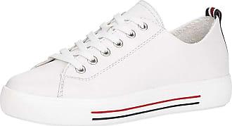 Remonte Women Lace-Up Flats D0900, Ladies Casual lace-up,Trainer,Sneaker,Low Shoe,Street Shoe,Leisure Shoe,Platform Sole,Weiss,45 EU / 10.5 UK