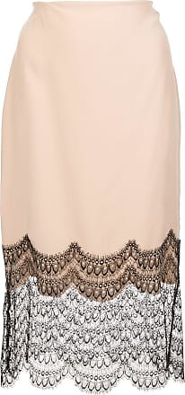 Kiki De Montparnasse lace trim silk skirt - PINK