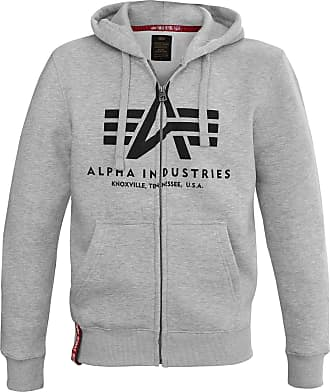 Alpha Industries Basic Zip Hoody Kapuzen Jacke grey heather, Größe L