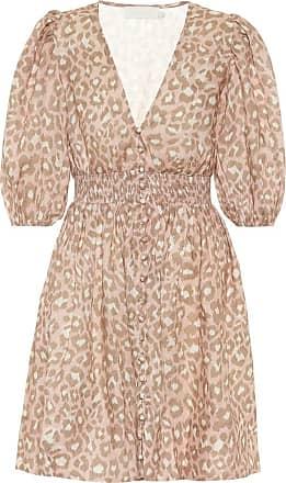 Zimmermann Carnaby leopard-print linen minidress