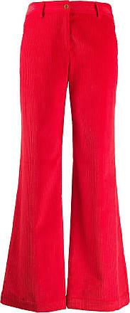 JEJIA Calça flare de veludo cotelê - Vermelho