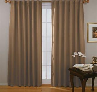 Eclipse Blackout Curtains for Bedroom - Fresno 52 x 84 Insulated Darkening Single Panel Rod Pocket Window Treatment Living Room, Mushroom