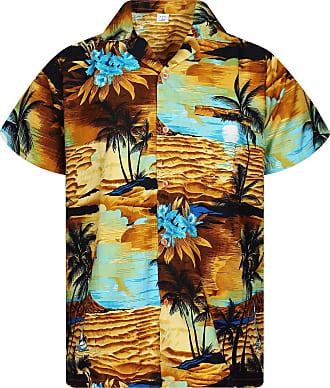 V.H.O. Funky Hawaiian Shirt, New Surf, lightorange, 3XL