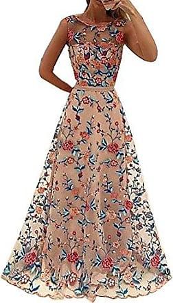Sommer Damen Boho Blumen Abendkleider Maxikleid Party Hochzeit Kleider 42 44