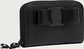 Salvatore Ferragamo Women Vara bow card case Black