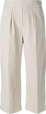 Fabiana Filippi front pleat cropped trousers - Neutrals