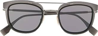 Fendi Óculos de sol quadrado bicolor - Preto