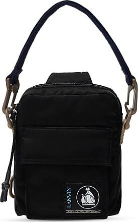 Lanvin Branded Shoulder Bag Mens Black