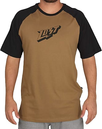 Lost Camiseta Lost Raglan Voltage - Marrom - P