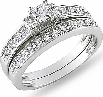 96b69096c Zales 1/3 CT. T.w. Princess-Cut and Baguette Diamond Three Stone Bridal